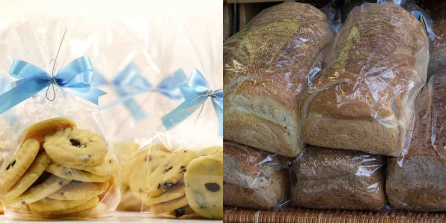 fresh cookies and loaves of bread